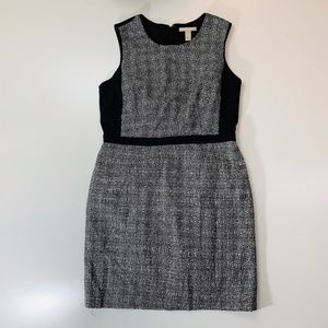 Banana Republic Black White Tweed Dress 14